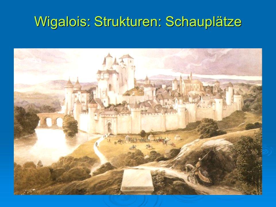 Wigalois: Strukturen: Schauplätze