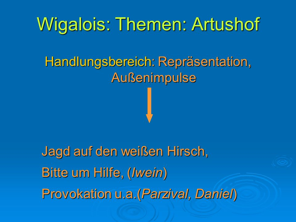 Wigalois: Themen: Artushof