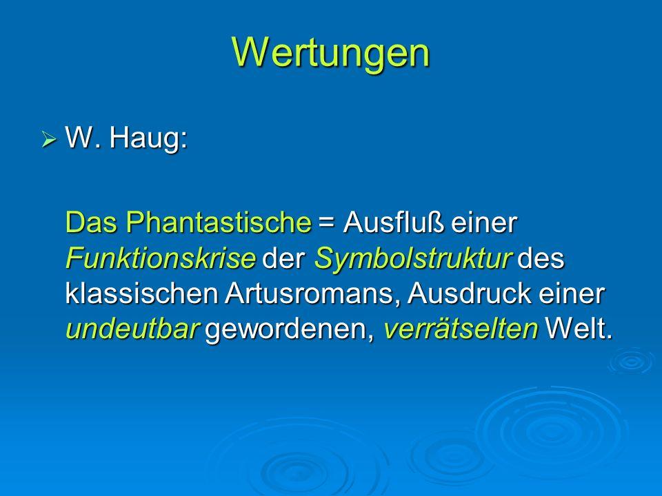 Wertungen W. Haug: