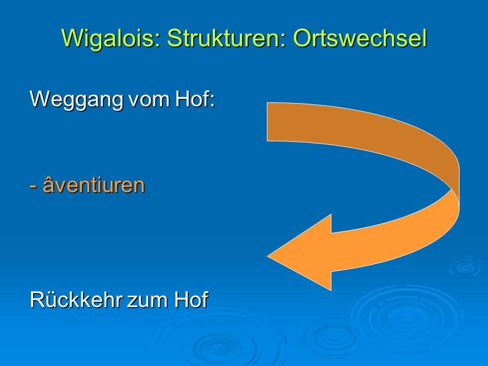 Wigalois: Strukturen: Ortswechsel