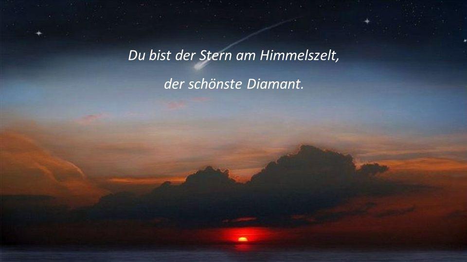 Du bist der Stern am Himmelszelt, der schönste Diamant.