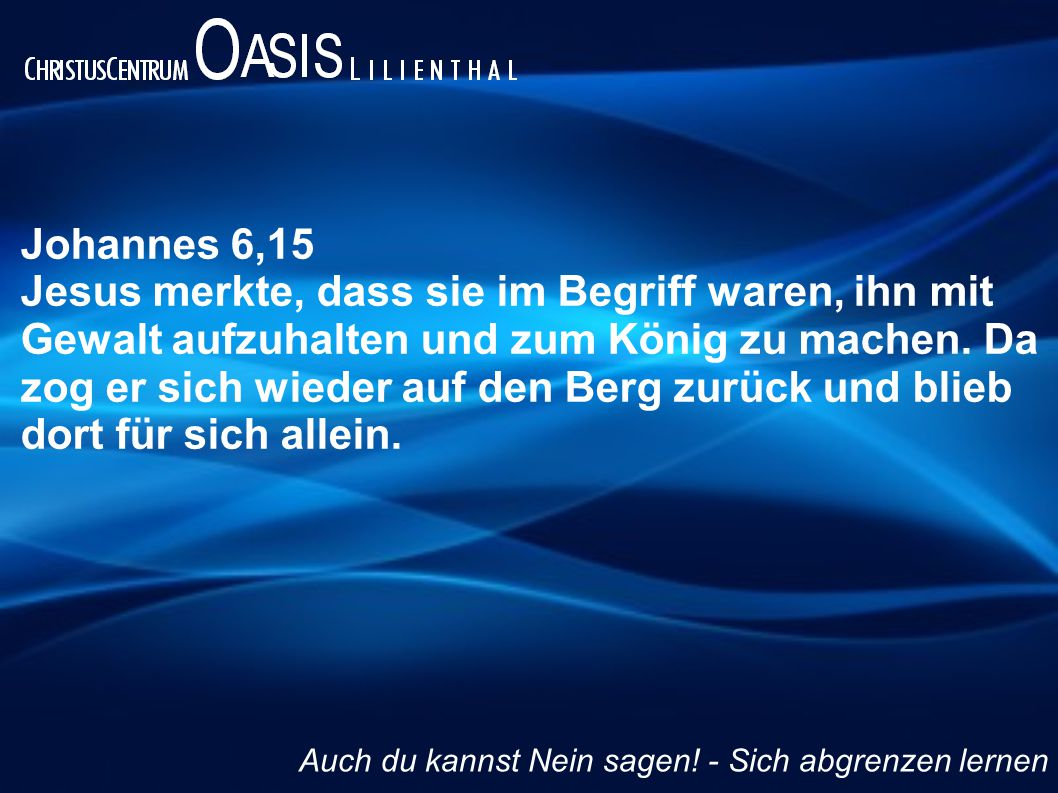 Johannes 6,15