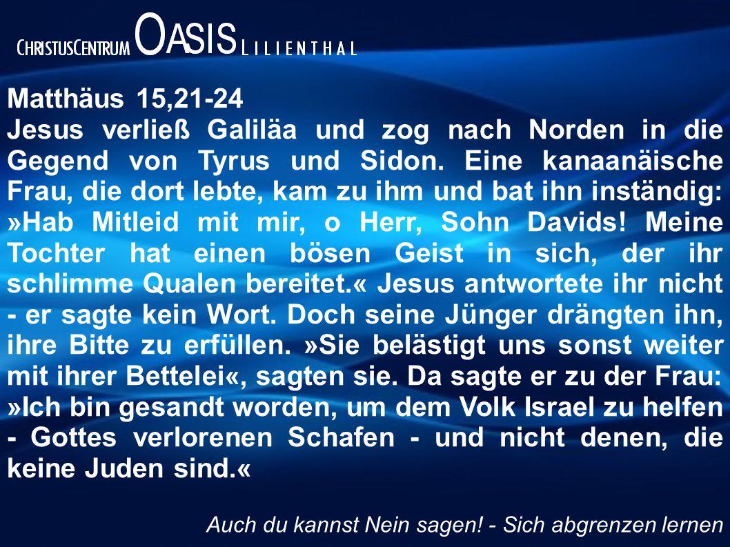 Matthäus 15,21-24