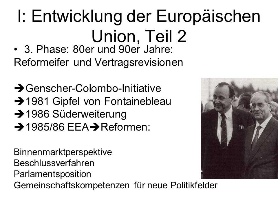 I: Entwicklung der Europäischen Union, Teil 2
