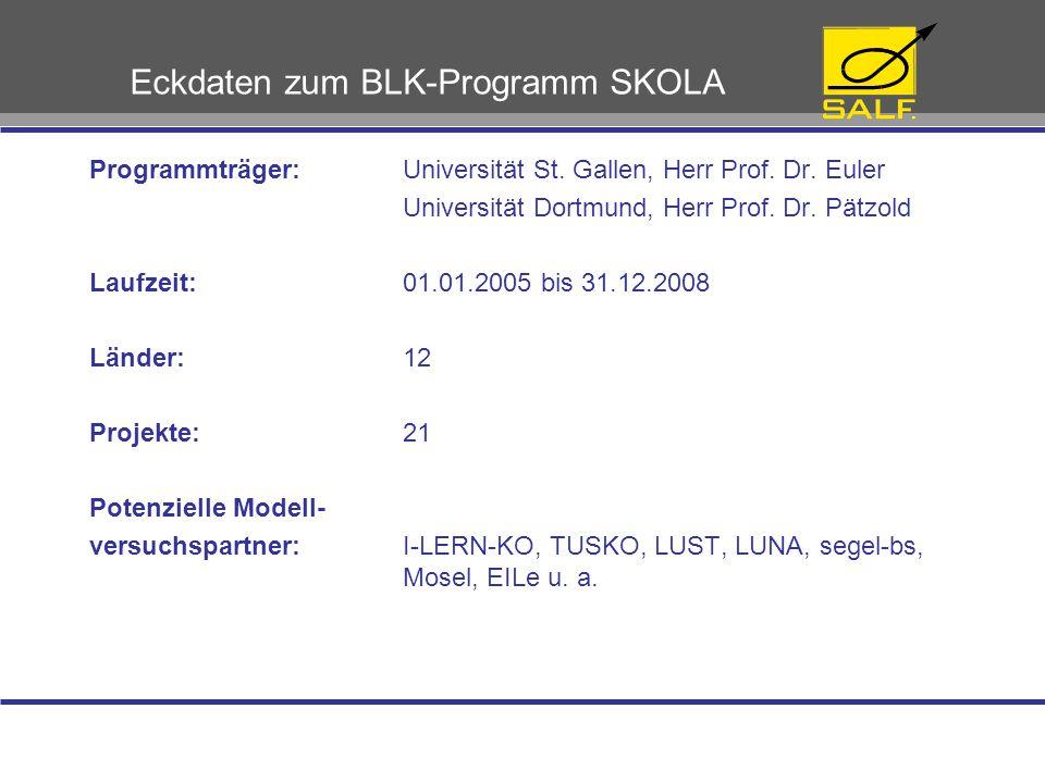 Eckdaten zum BLK-Programm SKOLA