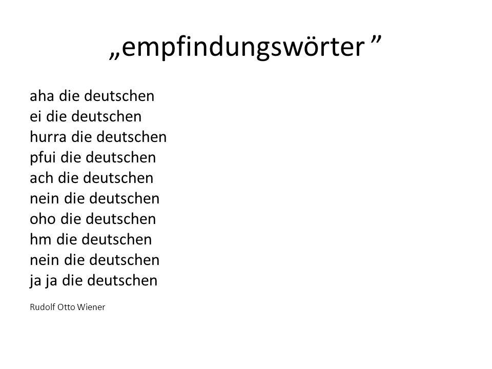 """""""empfindungswörter aha die deutschen ei die deutschen"""