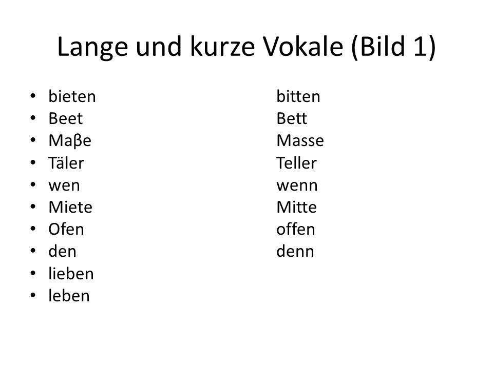 Lange und kurze Vokale (Bild 1)
