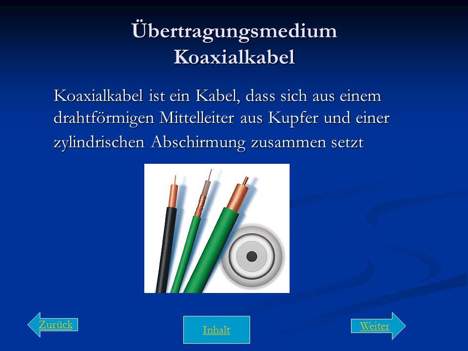 Übertragungsmedium Koaxialkabel