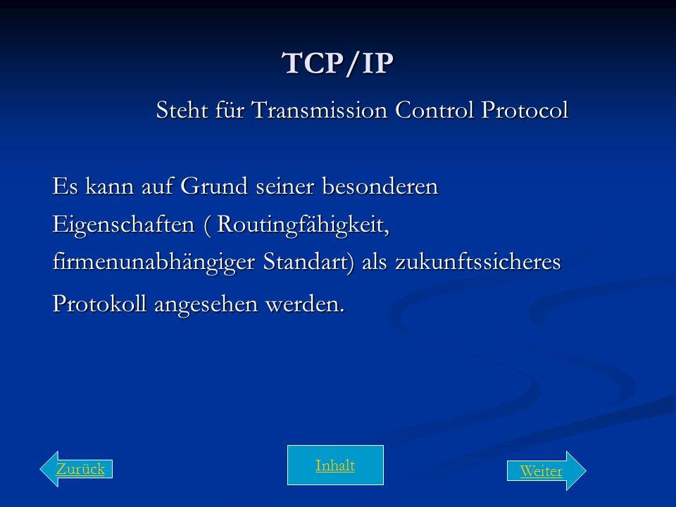Steht für Transmission Control Protocol