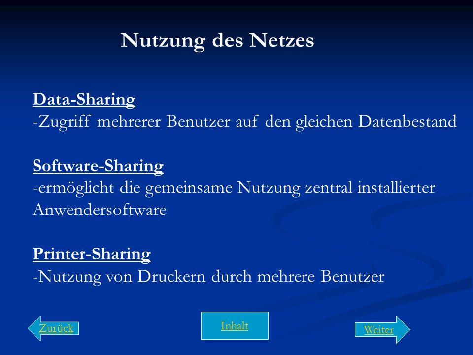 Nutzung des Netzes Data-Sharing