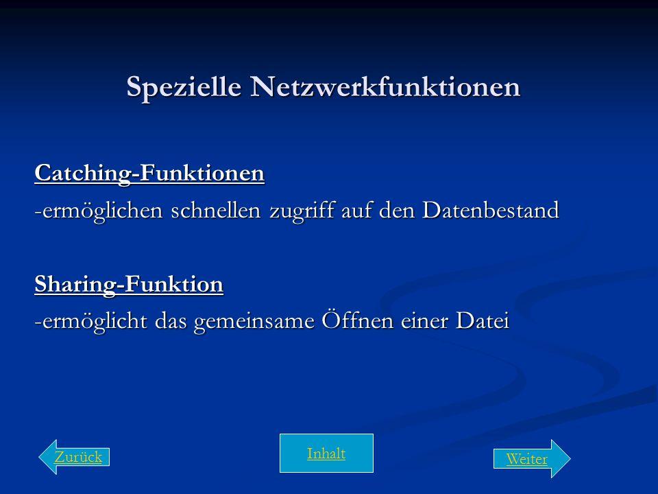 Spezielle Netzwerkfunktionen