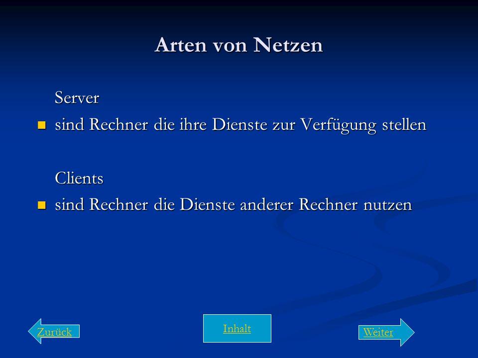 Arten von Netzen Server