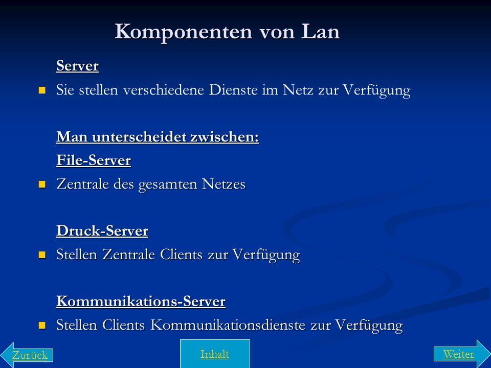 Komponenten von Lan Server