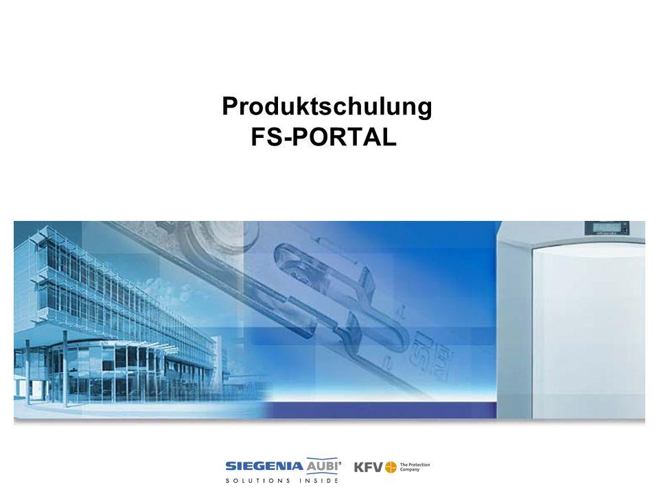 Produktschulung FS-PORTAL