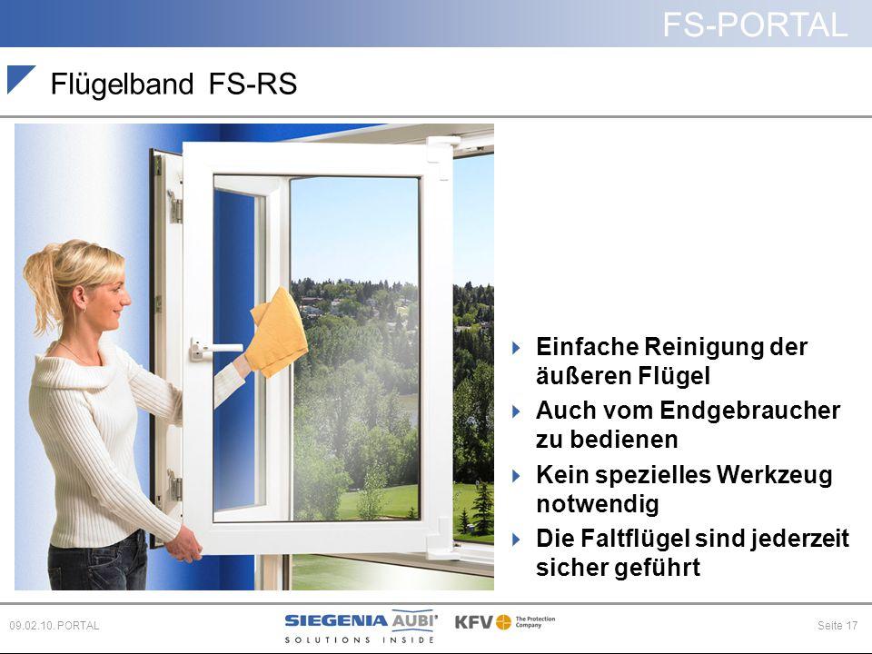 Flügelband FS-RS Einfache Reinigung der äußeren Flügel