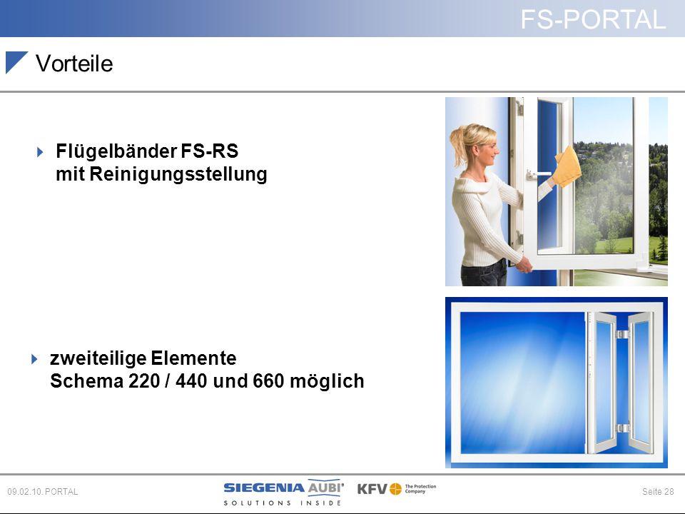 Vorteile Flügelbänder FS-RS mit Reinigungsstellung