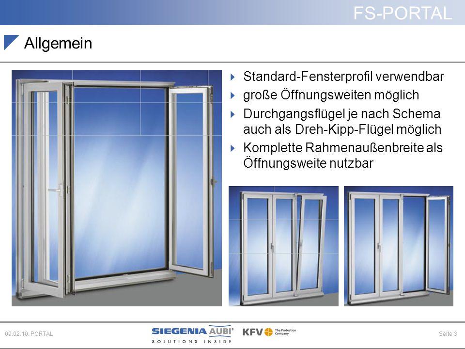 Allgemein Standard-Fensterprofil verwendbar