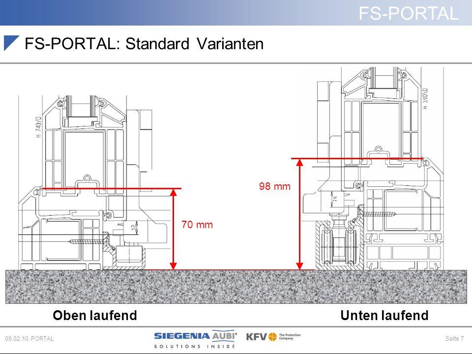 FS-PORTAL: Standard Varianten