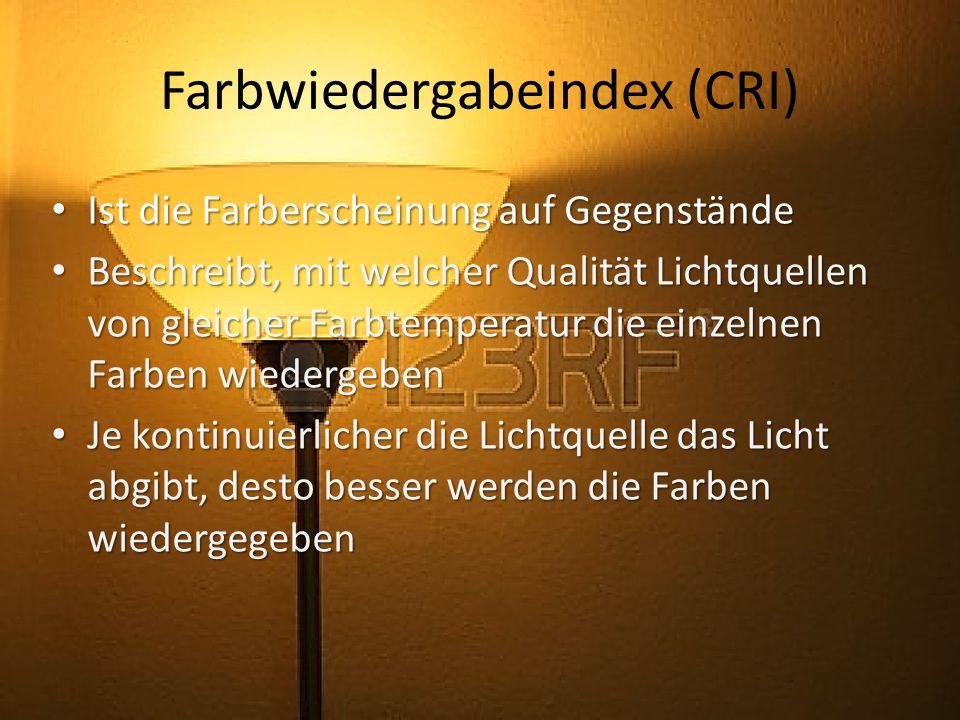 Farbwiedergabeindex (CRI)
