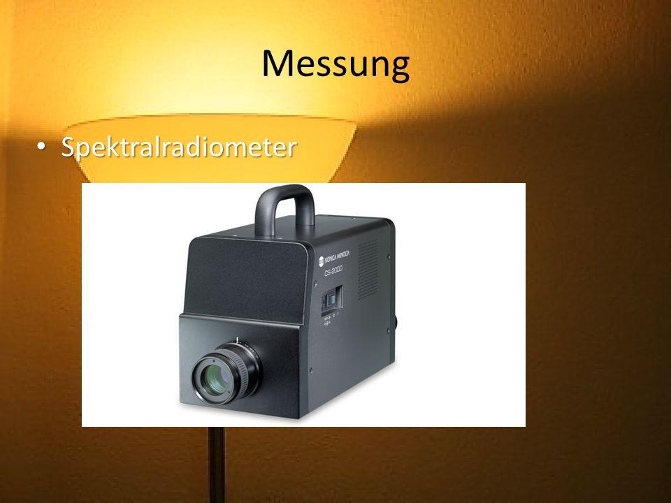Messung Spektralradiometer
