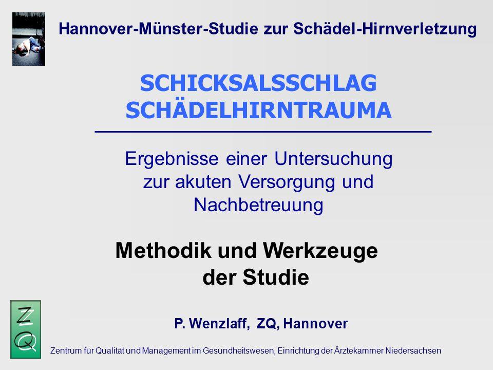 SCHICKSALSSCHLAG SCHÄDELHIRNTRAUMA Methodik und Werkzeuge der Studie
