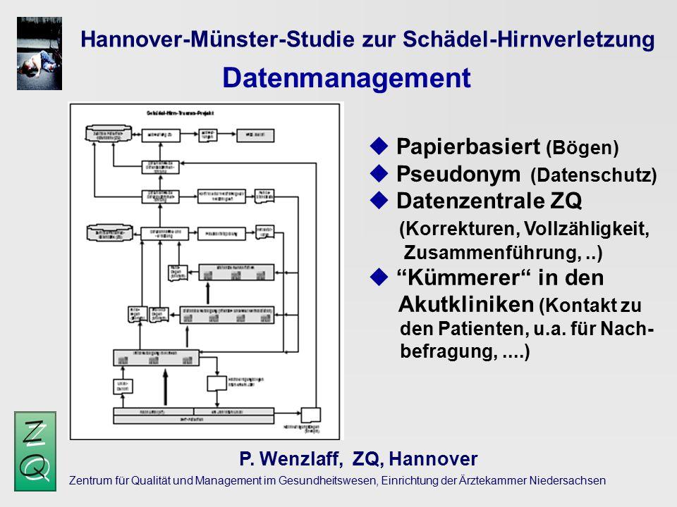 Datenmanagement Hannover-Münster-Studie zur Schädel-Hirnverletzung