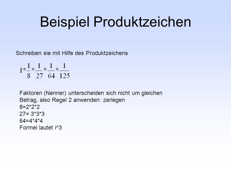 Beispiel Produktzeichen