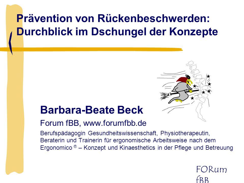 Prävention von Rückenbeschwerden: Durchblick im Dschungel der Konzepte