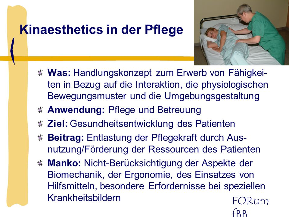 Kinaesthetics in der Pflege