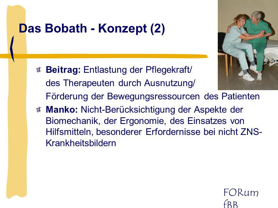 Das Bobath - Konzept (2) Beitrag: Entlastung der Pflegekraft/