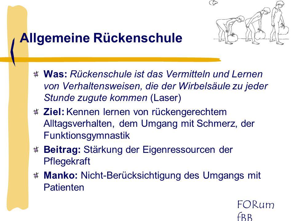 Allgemeine Rückenschule
