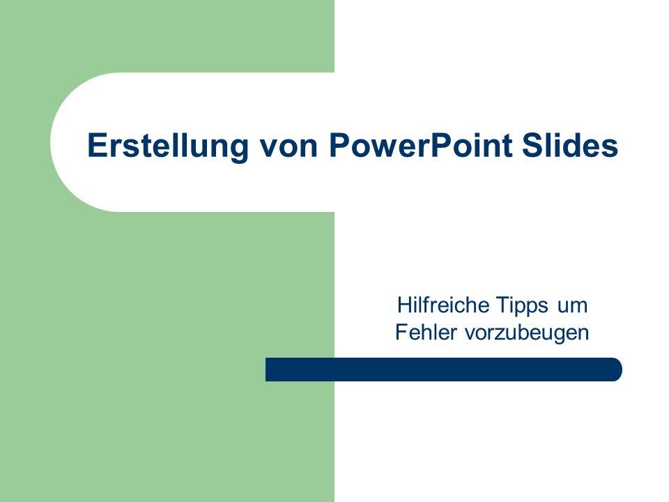 Erstellung von PowerPoint Slides