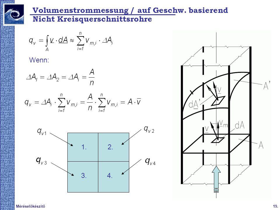 Volumenstrommessung / auf Geschw. basierend