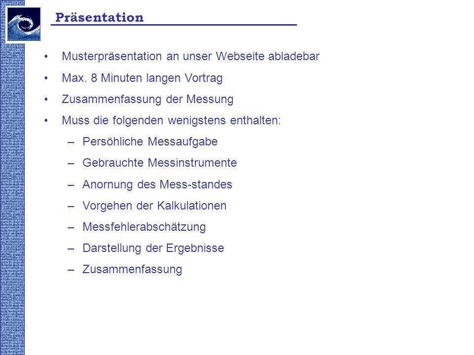 Präsentation Musterpräsentation an unser Webseite abladebar
