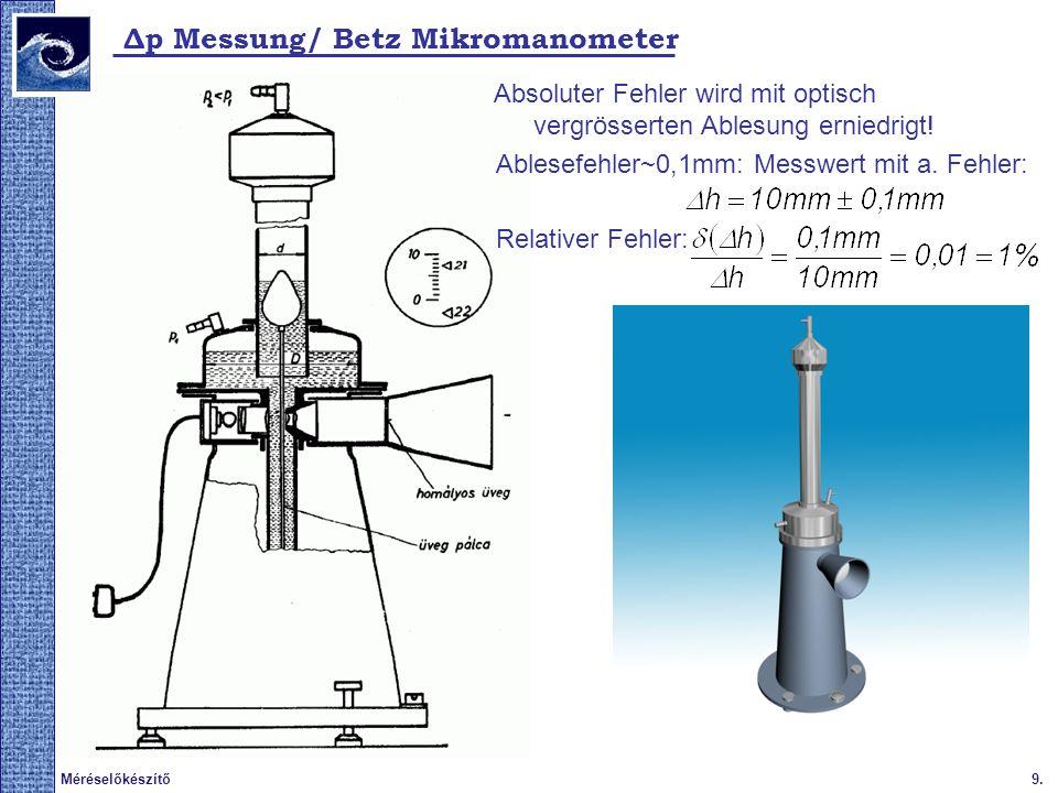Δp Messung/ Betz Mikromanometer