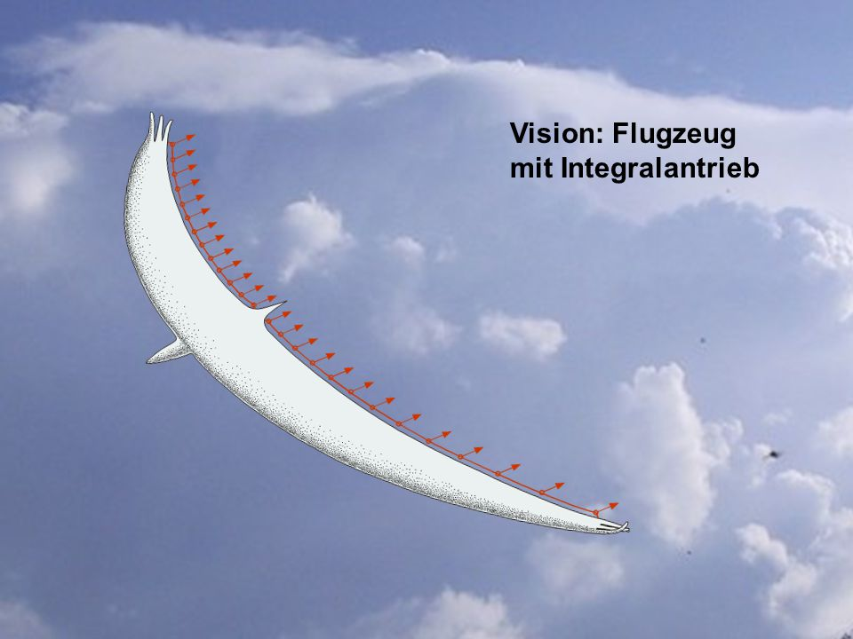 Vision: Flugzeug mit Integralantrieb