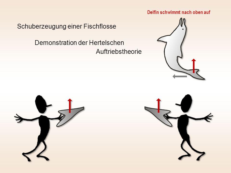 Schuberzeugung einer Fischflosse