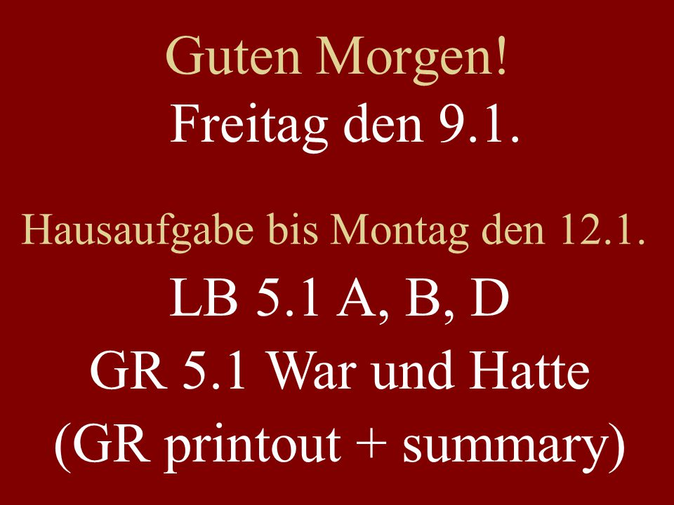 (GR printout + summary)
