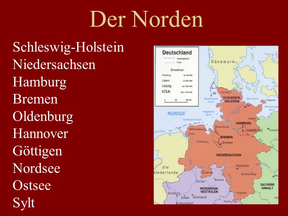Der Norden Schleswig-Holstein Niedersachsen Hamburg Bremen Oldenburg