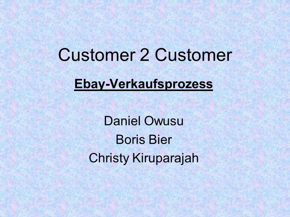 Ebay-Verkaufsprozess Daniel Owusu Boris Bier Christy Kiruparajah