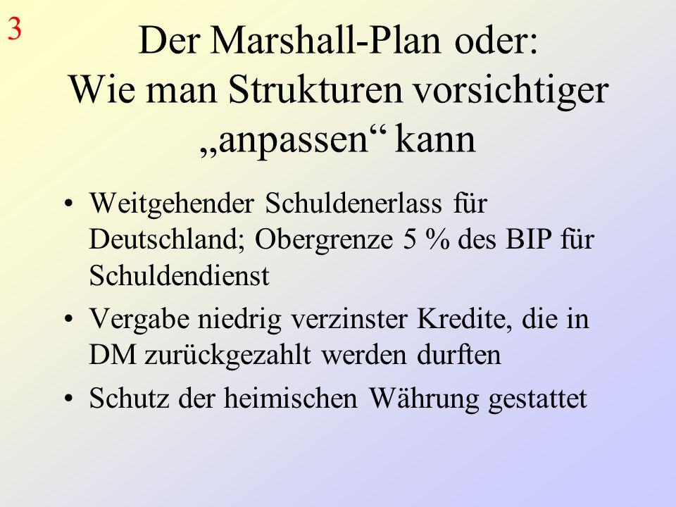 """3 Der Marshall-Plan oder: Wie man Strukturen vorsichtiger """"anpassen kann."""