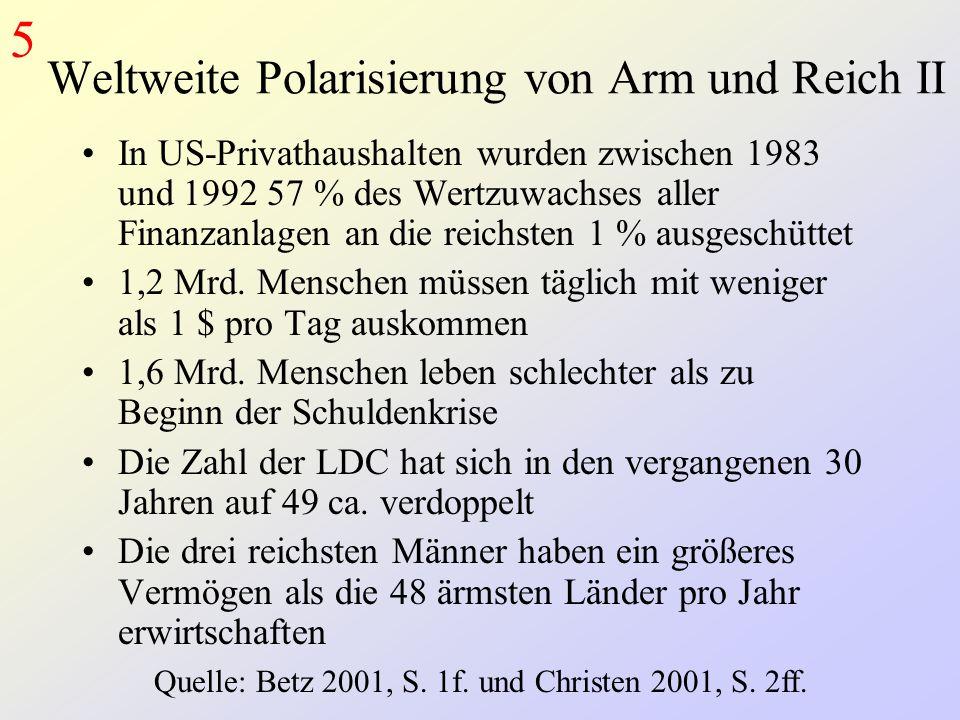 Weltweite Polarisierung von Arm und Reich II