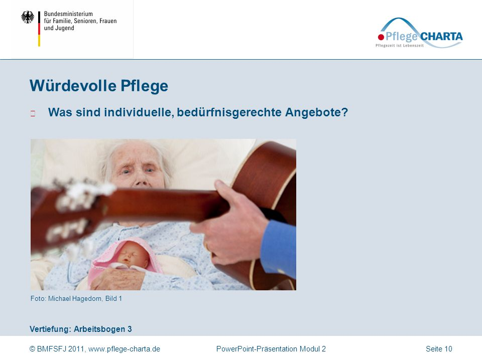 Würdevolle Pflege Wie sollten Angebote zur gesellschaftlichen Teilhabe gestaltet sein Foto: Ullstein Bild (CARO/Trappe), Bild 2.