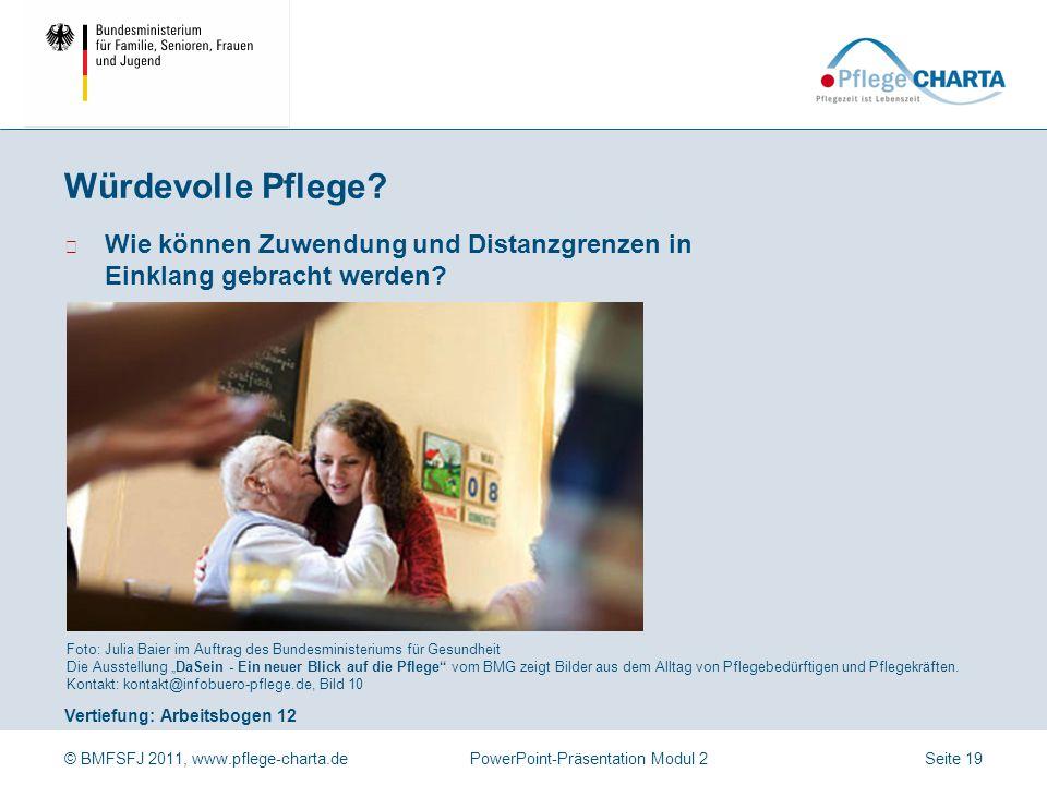 Würdevolle Pflege Welches Altersbild prägt unser Handeln in der Pflege Foto: Ullstein Bild (Gerig), Bild 11.