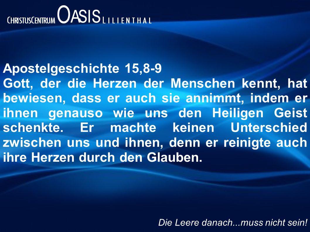 Apostelgeschichte 15,8-9