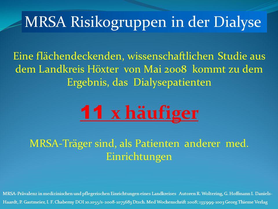 MRSA-Träger sind, als Patienten anderer med. Einrichtungen