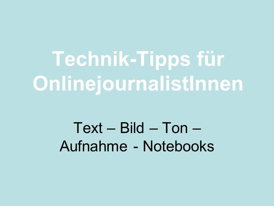 Technik-Tipps für OnlinejournalistInnen