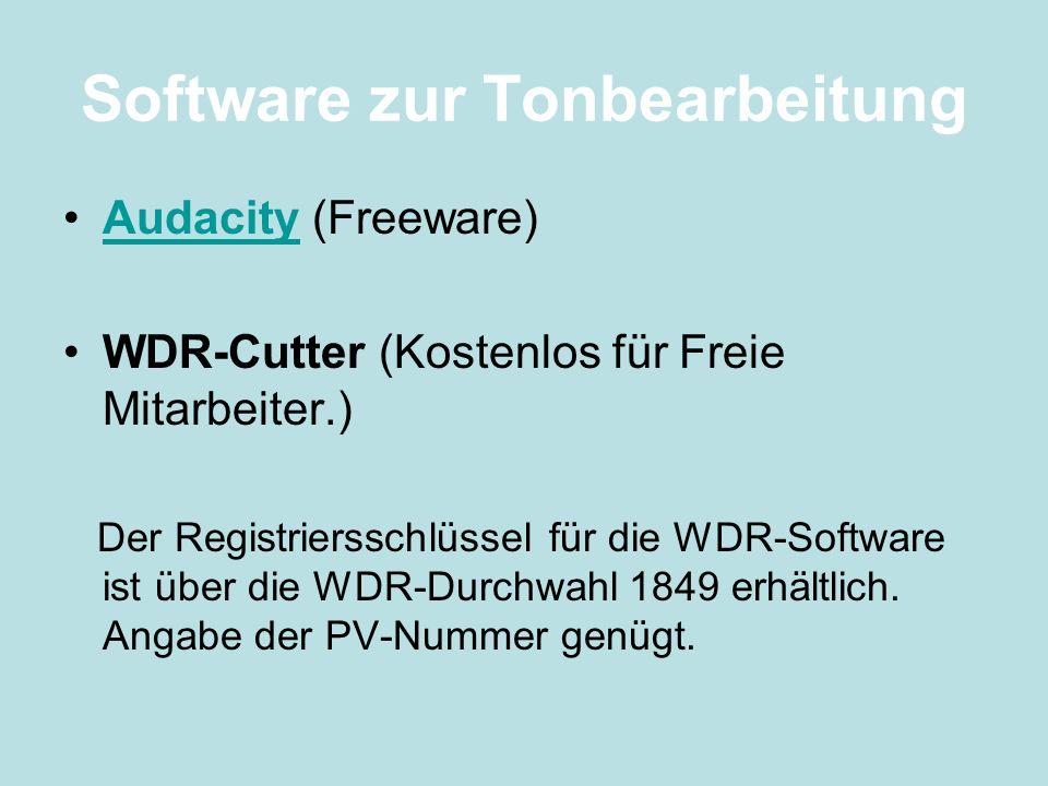 Software zur Tonbearbeitung
