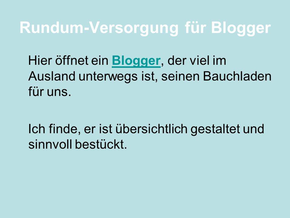 Rundum-Versorgung für Blogger