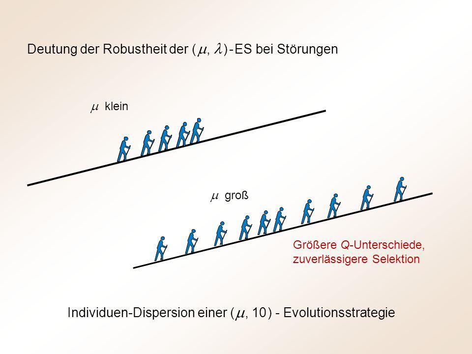 Deutung der Robustheit der ( m , l ) - ES bei Störungen